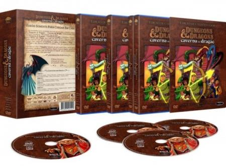 DVD Caverna Do Dragão - Coleção Completa  27 Episódios  Com 4 DVDS