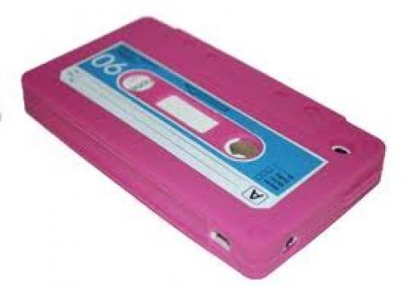 Capa Fita Cassete Para Iphone MODELO FITA K7 SILICONE ROSA