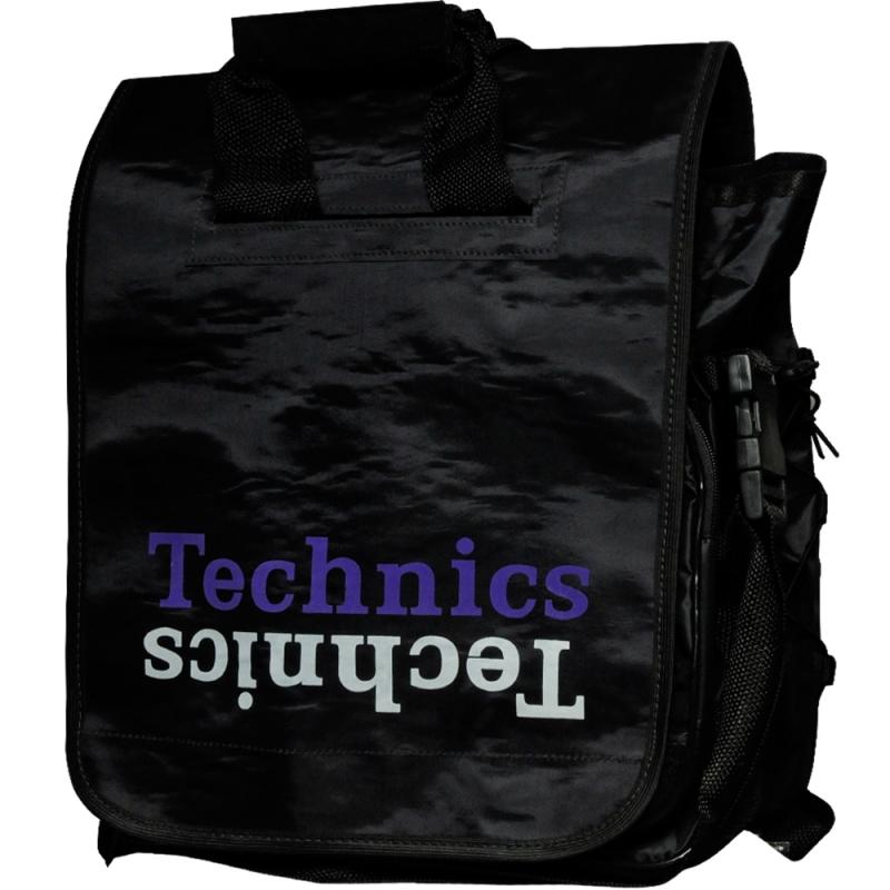 Bag Dj Technics - PRETA com LOGO ROXO E BRANCO