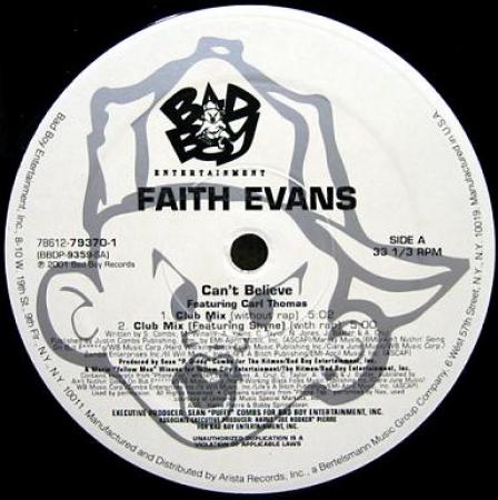LP Faith Evans - Featuring Carl Thomas Cant Believe