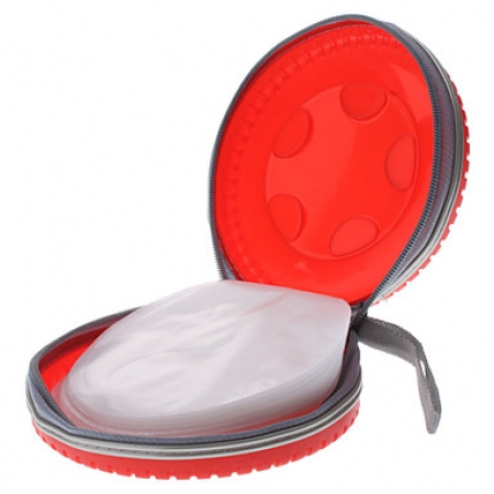 Storage Bag Holder - Pneu de carro design 40 cds VERMELHO