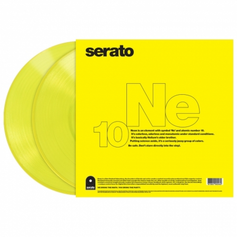 LP TIME CODE SERATO - Timecode Serato Neon Amarelo (O PAR)